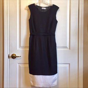 Calvin Klein Sz 4 black and white dress